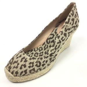 J. CREW Beige Espadrille Cheetah Heeled Sandals 9